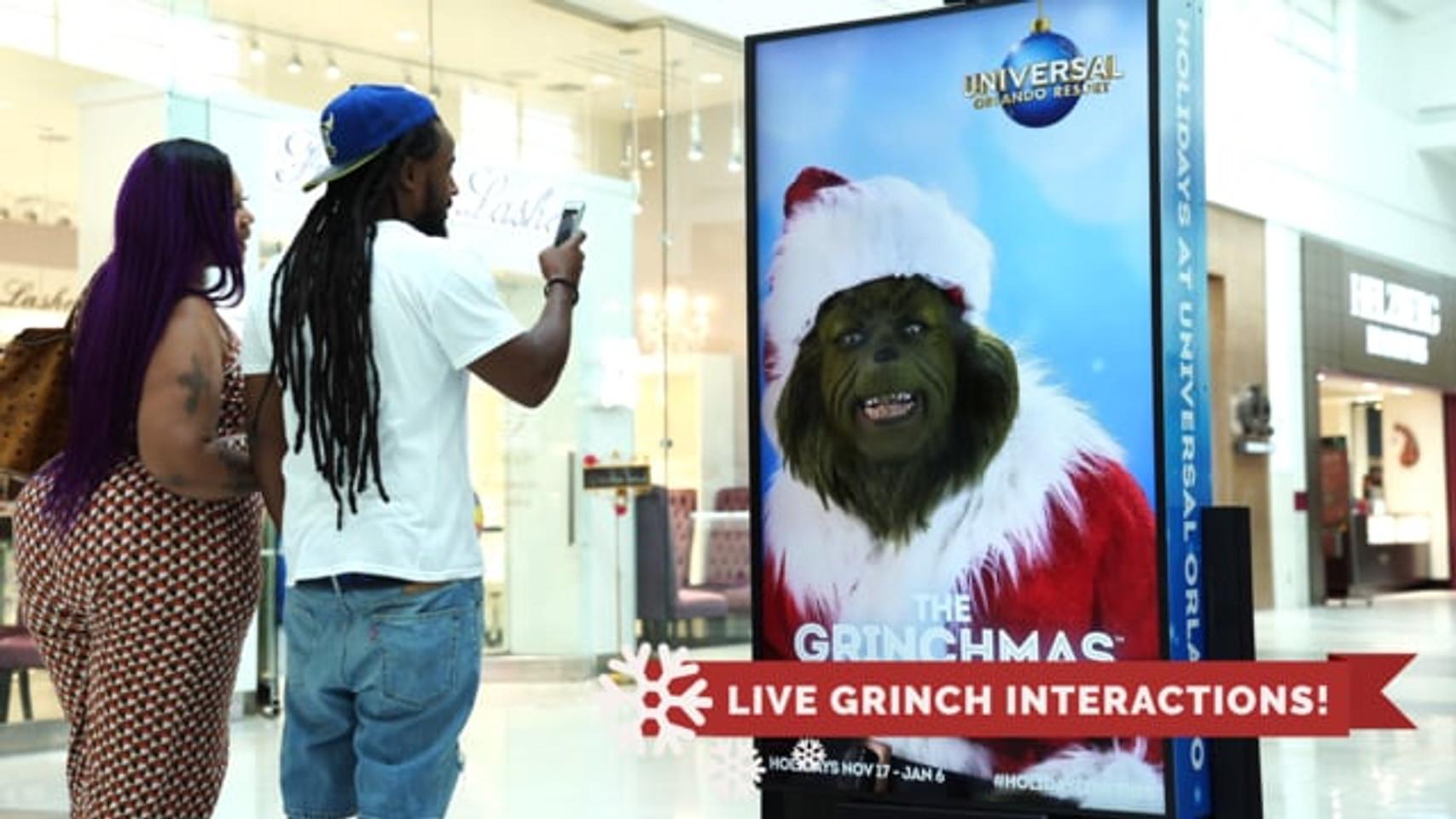 Monster XP Universal Orlando Resort Grinch Interactive Advertisement