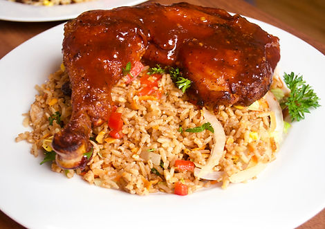 German's Soup BBQ Chicken and Fried Rice