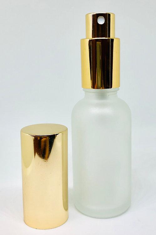 【ゴールドキャップ付き】 香水アロマ フロスト遮光 スプレーボトル 30ml