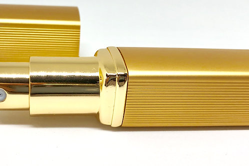 旅行先で香水アロマ♪ 携帯用スプレーボトル 12ml -ゴールド-