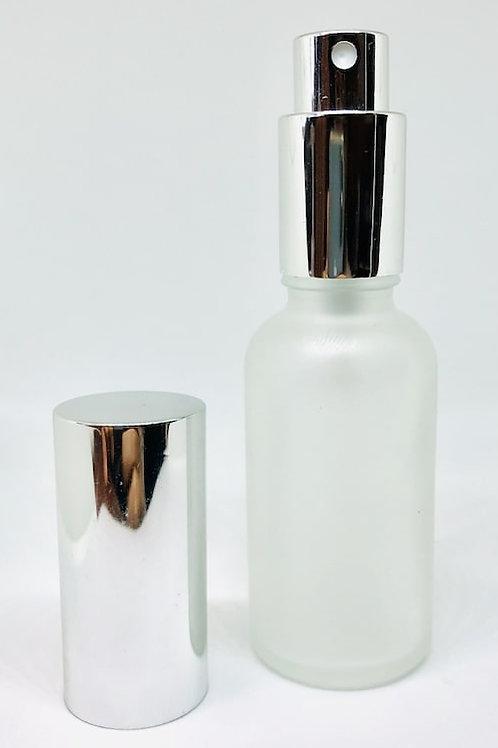 【シルバーキャップ付き】 香水アロマ フロスト遮光 スプレーボトル 30ml