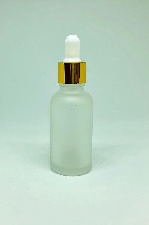 アロマボトル 30ml フロスト加工 ガラス製 スポイトタイプ 白色 遮光性 精油 化粧水