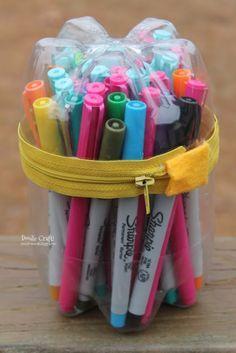 Plastic Bottle Pencil Case