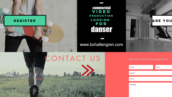 Searching dancer for video production