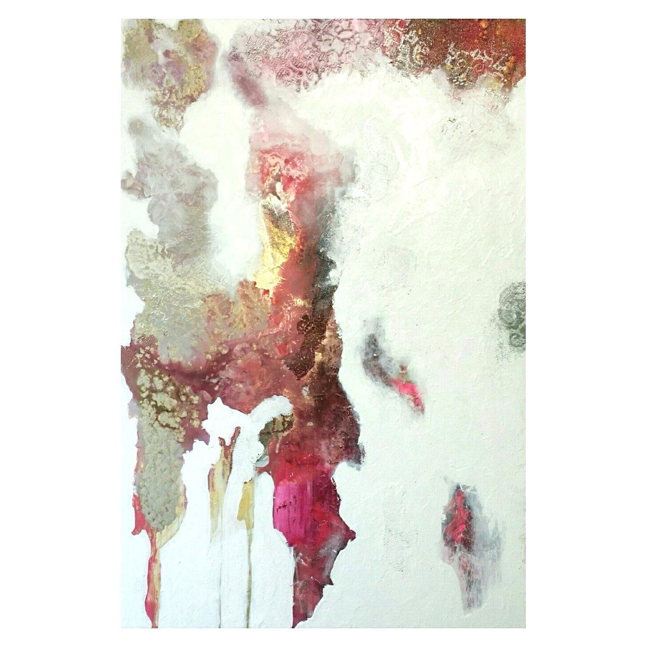 abstract magenta 36x54