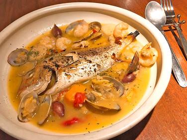 鮮魚のアクアパッツァ 箸まめキュイズィヌ あずき