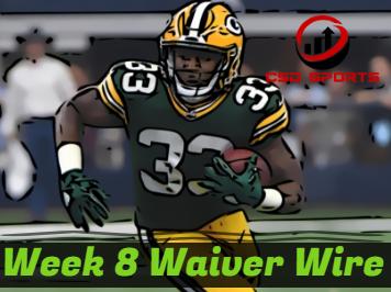 Waiver Wire & Week 8 Statistics Analysis