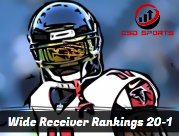 Wide Receiver Floor Rankings 20-1  2020