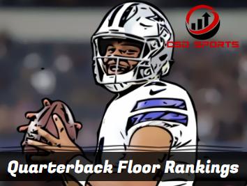 Quarterback Floor Rankings 2020