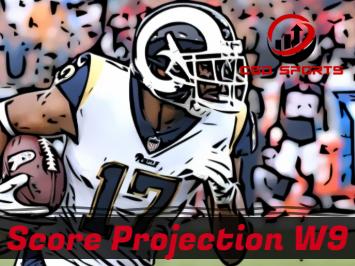 Score Projection & Risk Analysis Week 9