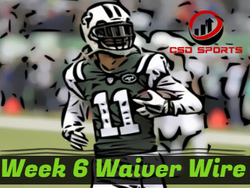 Waiver Wire & Week 6 Statistics Analysis
