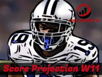 Score Projection & Risk Analysis Week 11