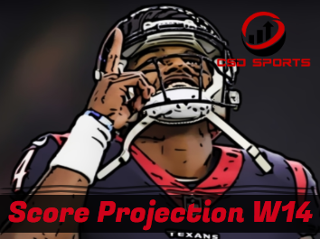 Score Projection & Risk Analysis Week 14