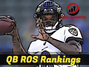 Quarterback ROS Rankings & Week 9 Statistics Analysis