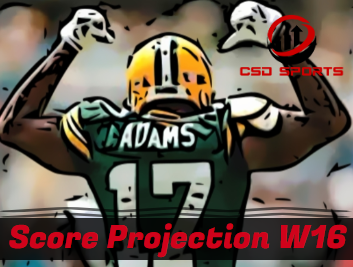 Score Projection & Risk Analysis Week 16
