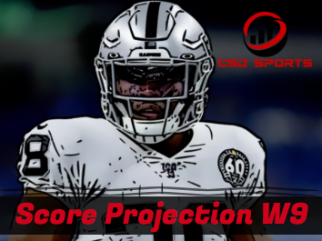 Score Projection & Risk Analysis Week 9 + RB ROS Rankings