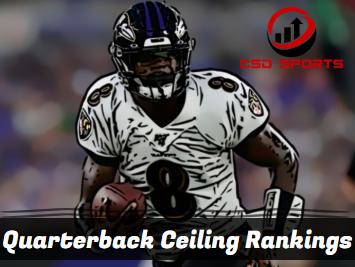 Quarterback Ceiling Rankings 2020
