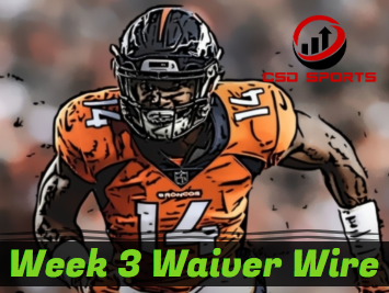 Waiver Wire & Week 3 Statistics Analysis