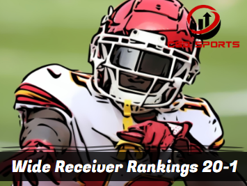 Wide Receiver Ceiling Rankings 20-1 2020
