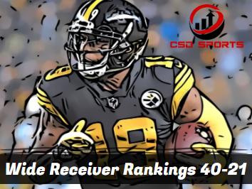 Wide Receiver Floor Rankings 40-21  2020