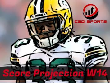Score Projection & Risk Analysis Week 14
