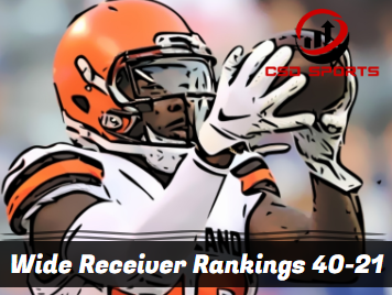 Wide Receiver Ceiling Rankings 40-21 2020
