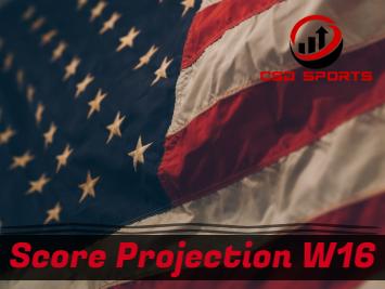 Score Projection & Risk Analysis Week 16