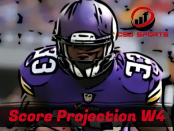 Score Projection & Risk Analysis Week 4