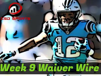 Waiver Wire & Week 9 Statistics Analysis