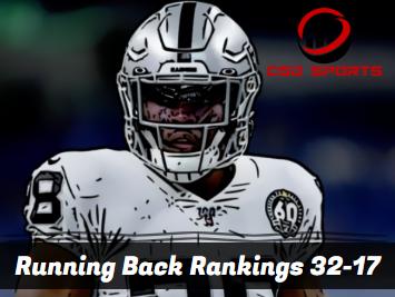 Running Back Ceiling Rankings 32-17 2020