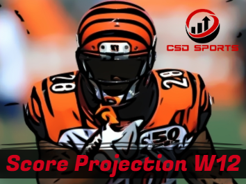 Score Projection & Risk Analysis Week 12
