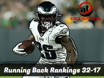 Running Back Floor Rankings 32-17 2020