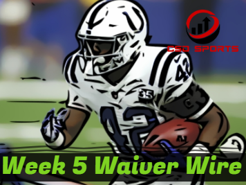 Waiver Wire & Week 5 Statistics Analysis