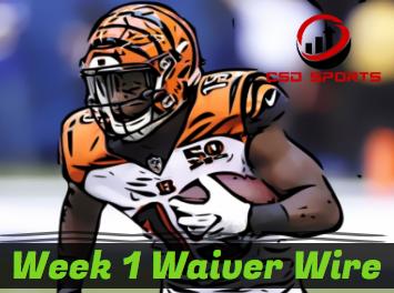 Waiver Wire & Week 1 Statistics Analysis