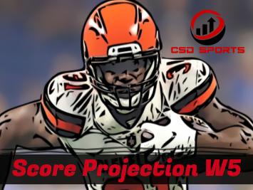 Score Projection & Risk Analysis Week 5