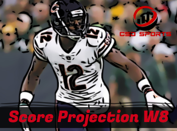Score Projection & Risk Analysis Week 8