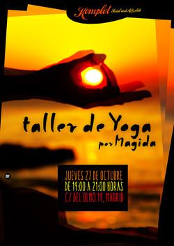 Cartel Taller de Yoga por Magida