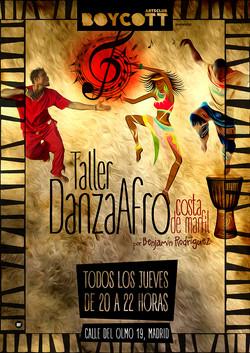 Cartel Taller Danza Afro