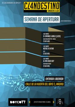 "Cartel ""Semana de Apertura"""