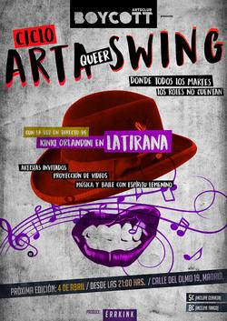 "Cartel Ciclo ""Arta Queer Swing"""