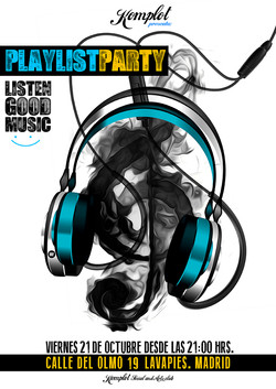 "Cartel ""Playlist Party"""
