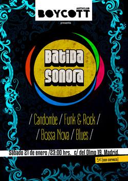 Cartel Batida Sonora