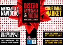 """Cartel Mercado """"Diseño & Artesanía"""""""