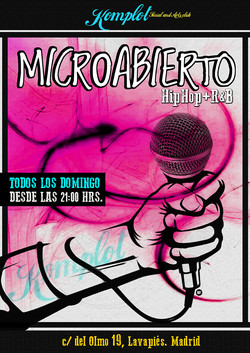 Cartel Domingos de MicroAbierto