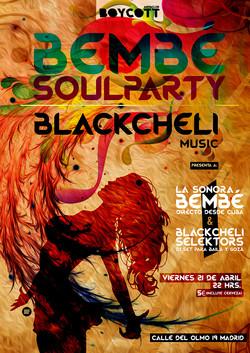 Cartel Black Cheli en concierto