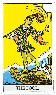 The fool rider Waite tarot