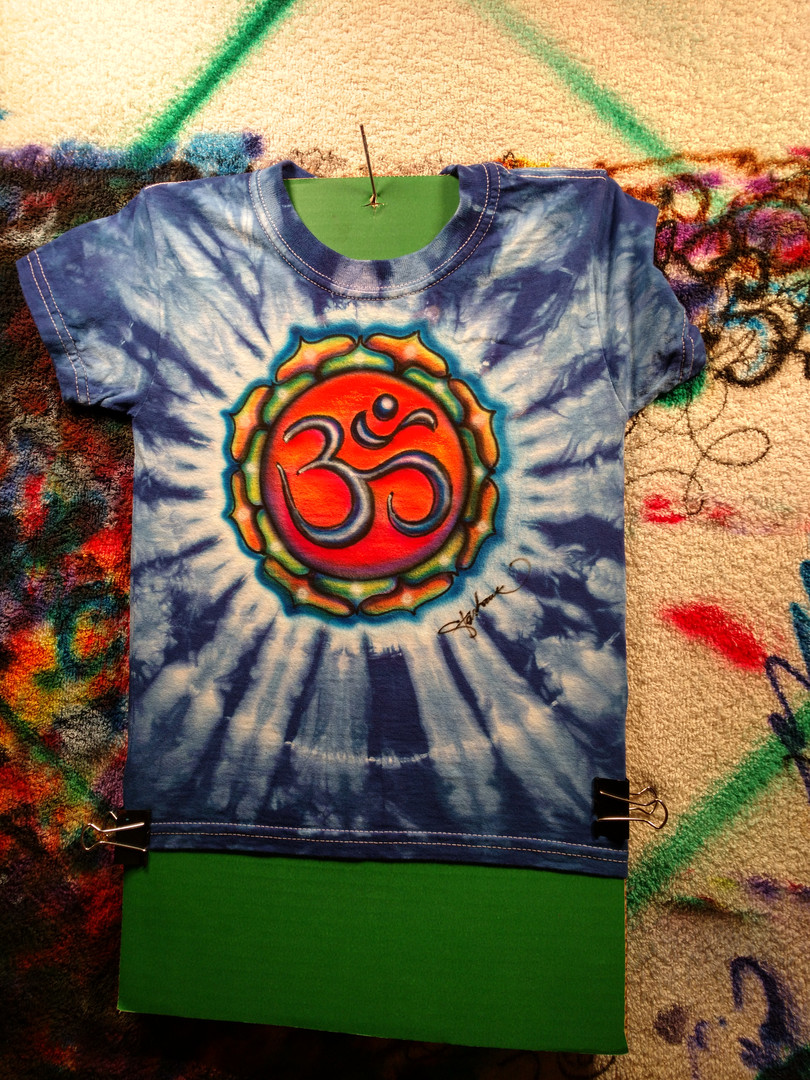 Om on a youth tee