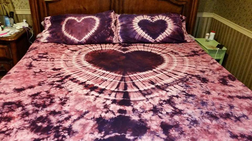 heart bed set
