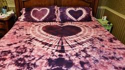 heart bed set