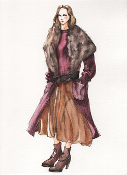 Fur, Leather and knit